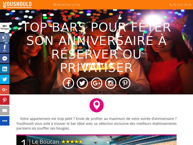 privatisation bar anniversaire paris