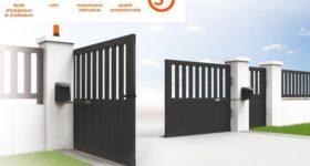 motorisation d'un portail avec alimentaion solaire